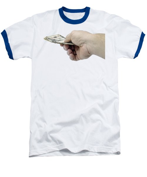 Pay Money Baseball T-Shirt by Erich Grant