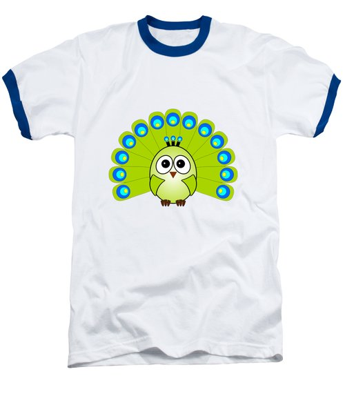 Peacock  - Birds - Art For Kids Baseball T-Shirt by Anastasiya Malakhova