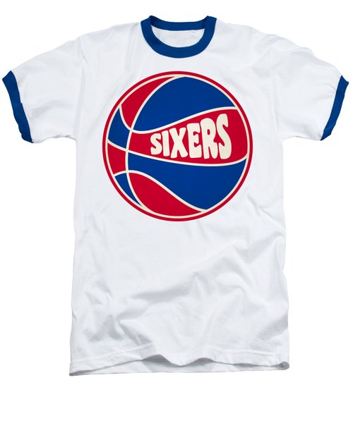 Philadelphia 76ers Retro Shirt Baseball T-Shirt by Joe Hamilton