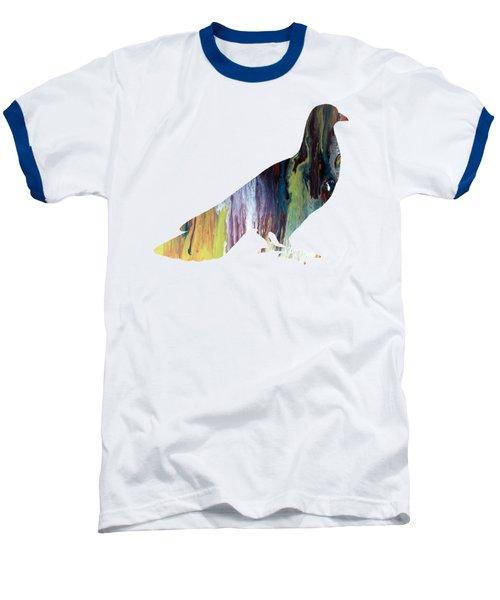 Pigeon Baseball T-Shirt by Mordax Furittus
