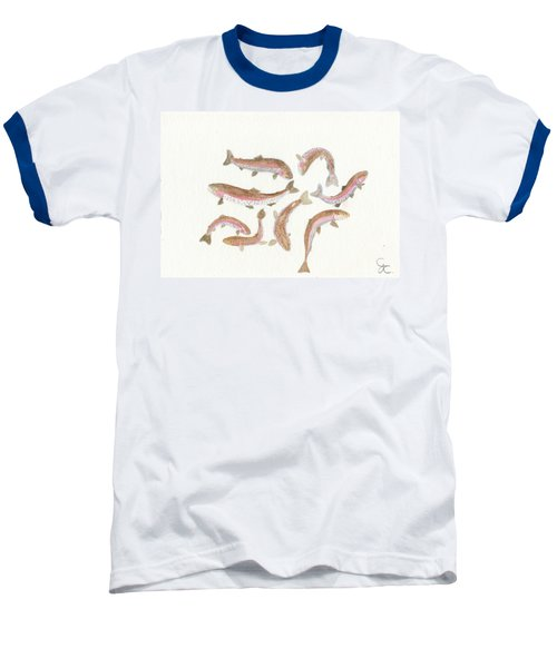Rainbow Trout Baseball T-Shirt by Gareth Coombs