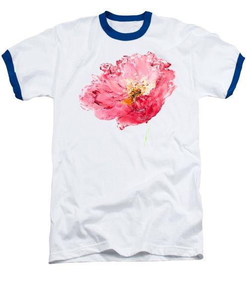 Red Poppy Painting Baseball T-Shirt by Jan Matson