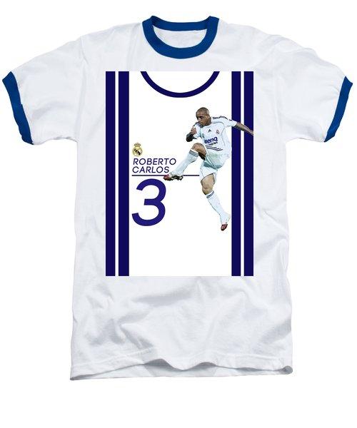 Roberto Carlos Baseball T-Shirt by Semih Yurdabak