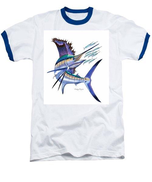 Sailfish Digital Baseball T-Shirt by Carey Chen