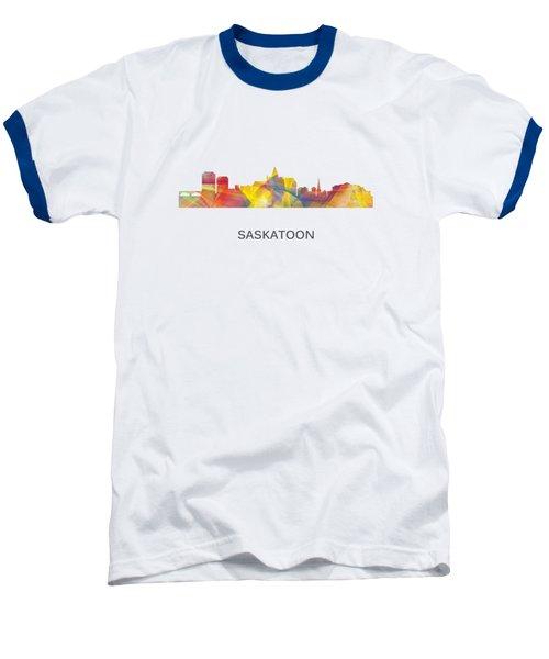 Saskatoon Sask.skyline Baseball T-Shirt by Marlene Watson