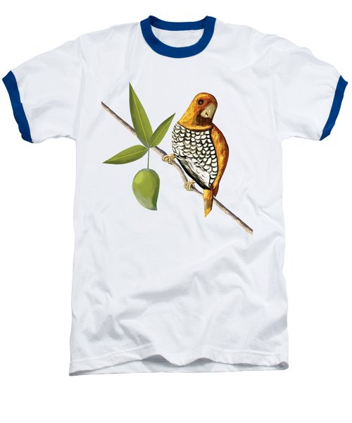 Scaly Breasted Munia D Baseball T-Shirt by Thecla Correya