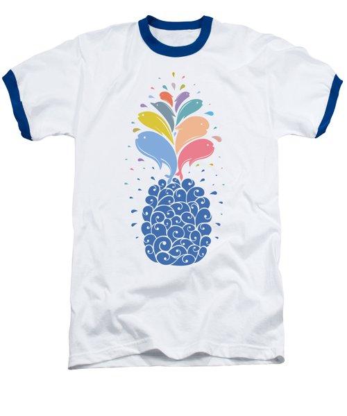 Seapple Baseball T-Shirt by Mustafa Akgul