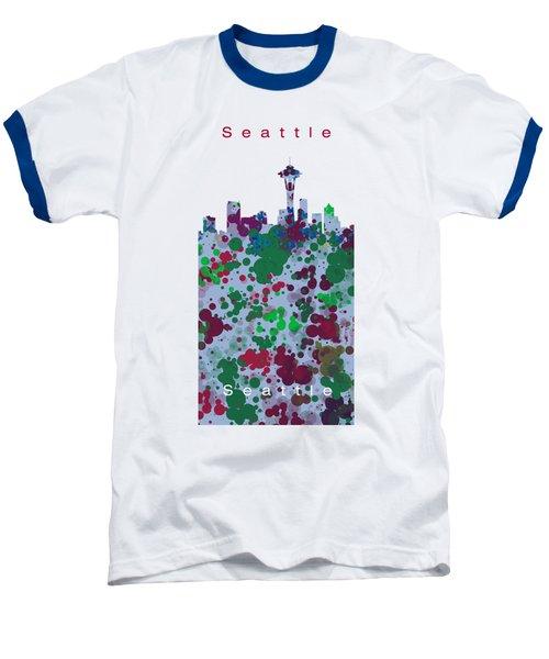 Seattle Skyline .3 Baseball T-Shirt by Alberto RuiZ