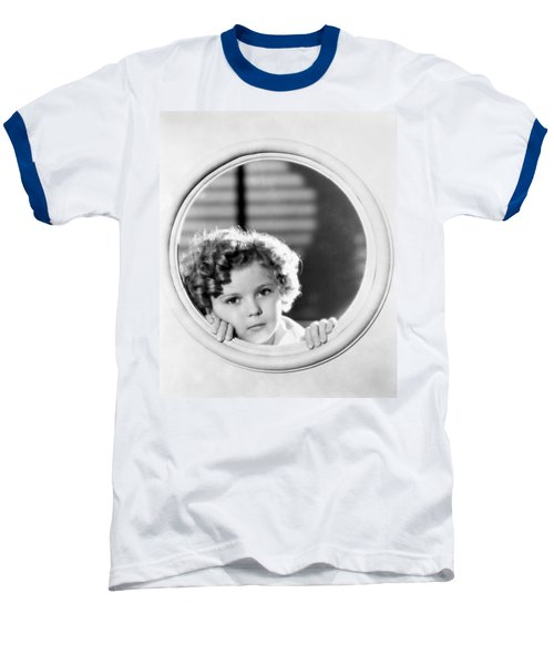 Shirley Temple (1928-2014) Baseball T-Shirt by Granger