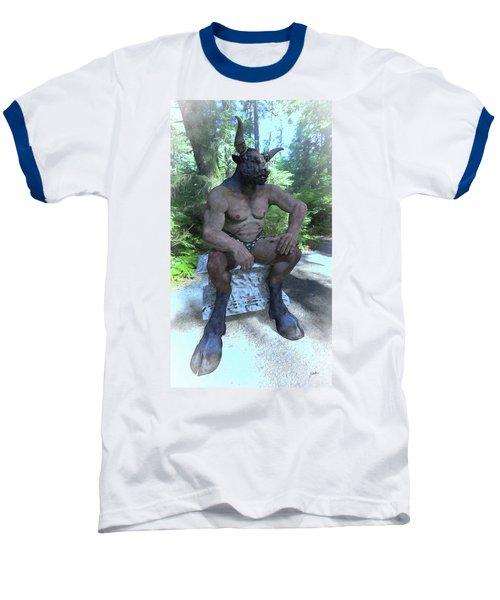 Sitting Bull Baseball T-Shirt by Joaquin Abella