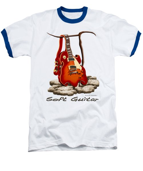 Soft Guitar - 3 Baseball T-Shirt by Mike McGlothlen