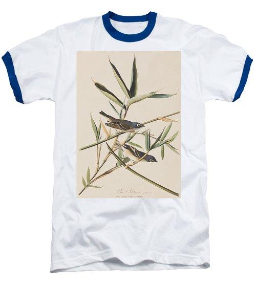 Solitary Flycatcher Or Vireo Baseball T-Shirt by John James Audubon