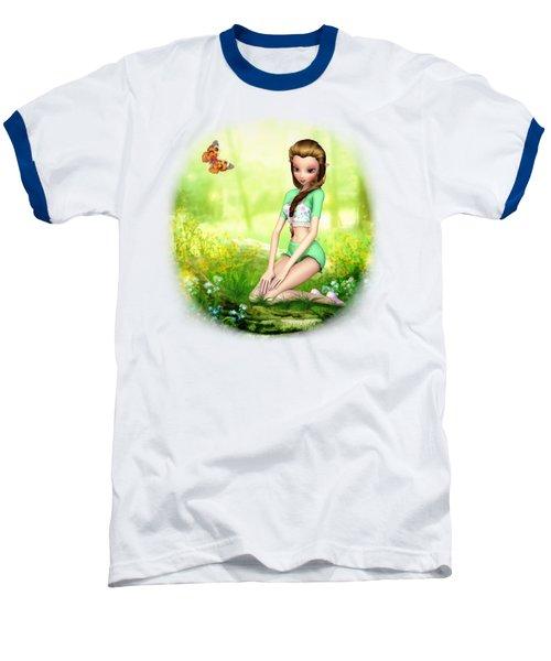 Springtime Pretties Baseball T-Shirt by Brandy Thomas