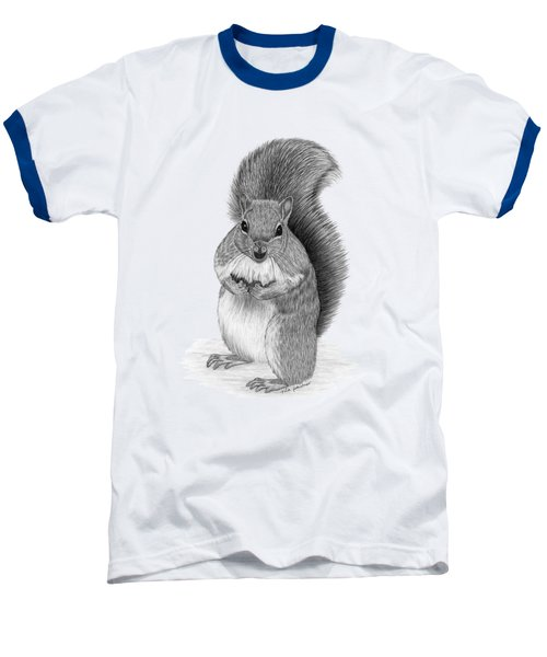 Squirrel Baseball T-Shirt by Rita Palmer