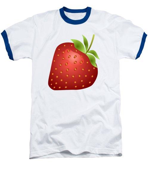 Strawberry Fruit Baseball T-Shirt by Miroslav Nemecek