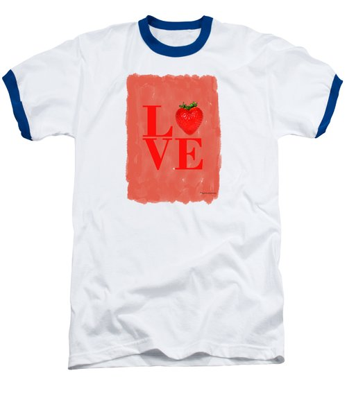 Strawberry Baseball T-Shirt by Mark Rogan