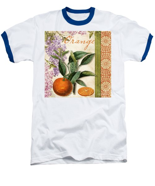 Summer Citrus Orange Baseball T-Shirt by Mindy Sommers