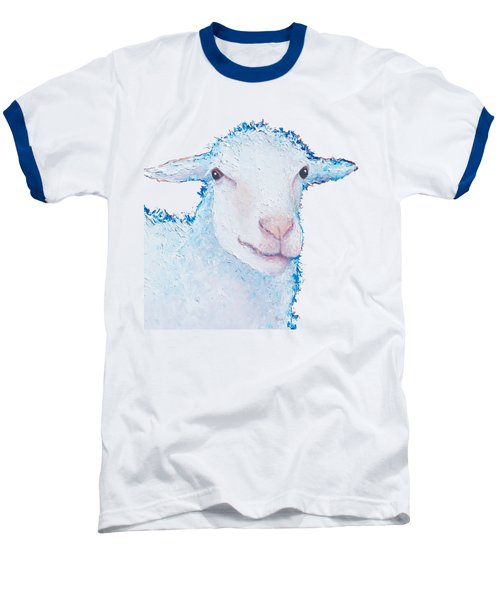 T-shirt With Sheep Design Baseball T-Shirt by Jan Matson