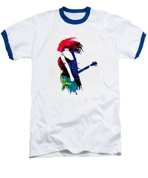 Taylor Watercolor Baseball T-Shirt by Naxart Studio