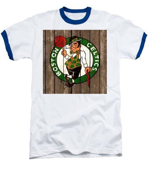 The Boston Celtics 2b Baseball T-Shirt by Brian Reaves
