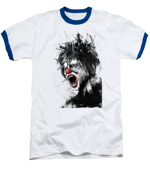 The Clown Baseball T-Shirt by Balazs Solti