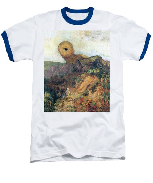 The Cyclops Baseball T-Shirt by Odilon Redon