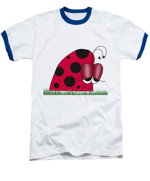 The Euphoric Ladybug Baseball T-Shirt by Michelle Brenmark