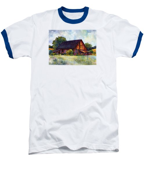 This Old Barn Baseball T-Shirt by Hailey E Herrera