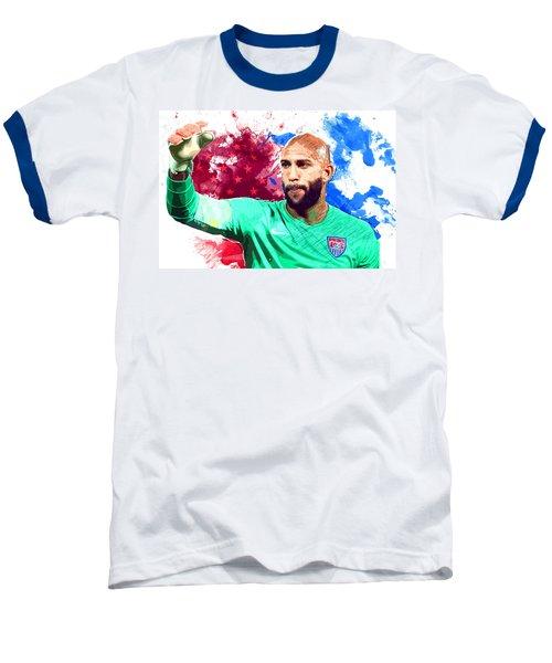 Tim Howard Baseball T-Shirt by Semih Yurdabak