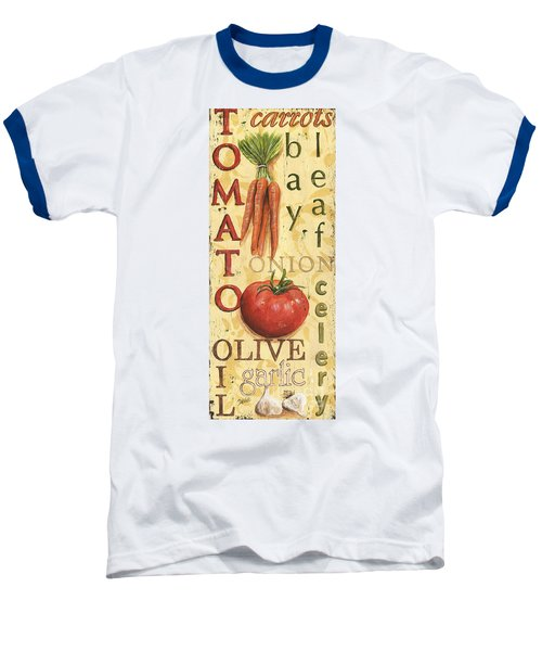 Tomato Soup Baseball T-Shirt by Debbie DeWitt