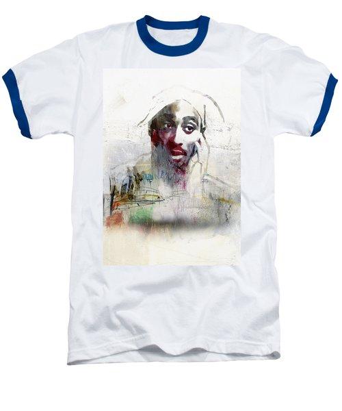 Tupac Graffitti 2656 Baseball T-Shirt by Jani Heinonen
