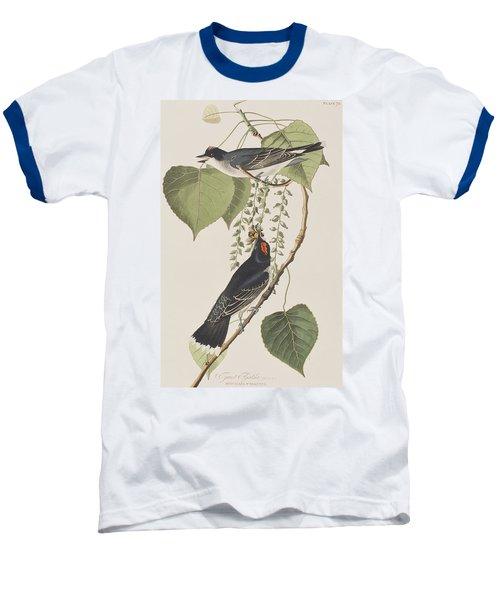 Tyrant Fly Catcher Baseball T-Shirt by John James Audubon