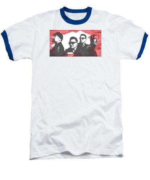 U2 Graffiti Tribute Baseball T-Shirt by Dan Sproul