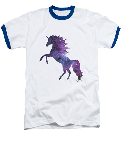 Unicorn In Space-transparent Background Baseball T-Shirt by Jacob Kuch