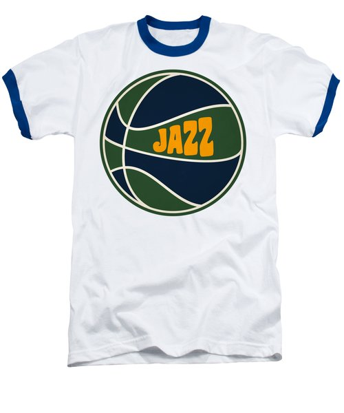 Utah Jazz Retro Shirt Baseball T-Shirt by Joe Hamilton