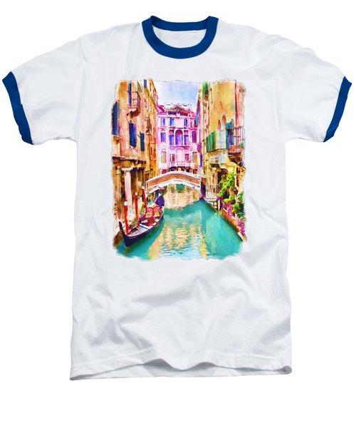 Venice Canal 2 Baseball T-Shirt by Marian Voicu
