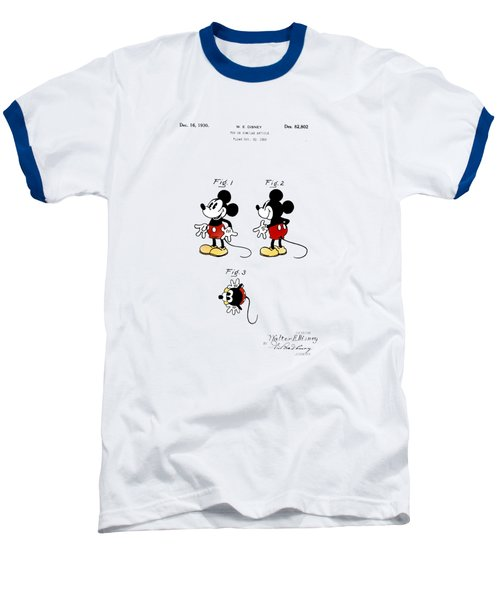 Vintage 1930 Mickey Mouse Patent Baseball T-Shirt by Digital Reproductions