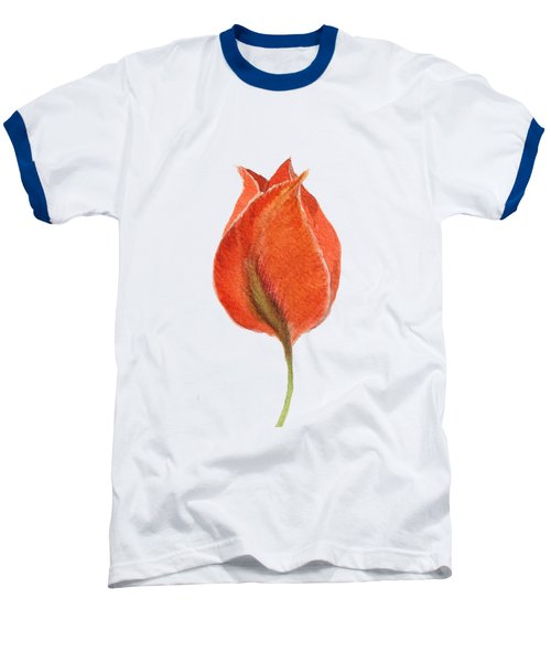 Vintage Tulip Watercolor Phone Case Baseball T-Shirt by Edward Fielding