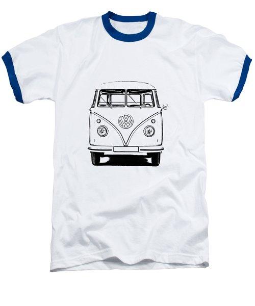 Vw Bus T-shirt Baseball T-Shirt by Edward Fielding