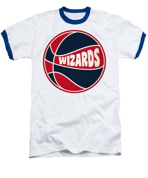 Washington Wizards Retro Shirt Baseball T-Shirt by Joe Hamilton