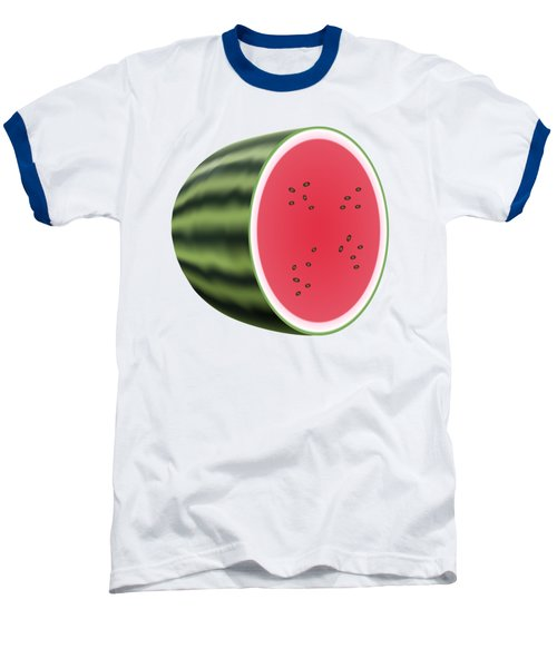 Water Melon Baseball T-Shirt by Miroslav Nemecek