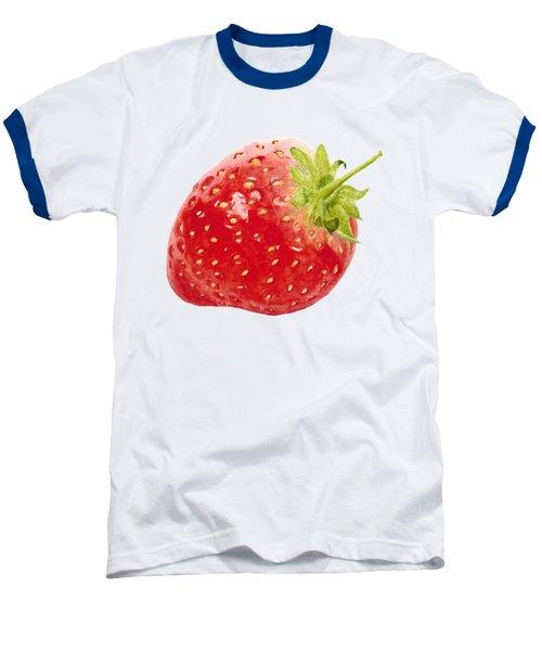 Watercolor Strawberry Baseball T-Shirt by Kathleen Skinner
