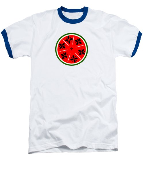 Watermelon Summer Baseball T-Shirt by Chastity Hoff