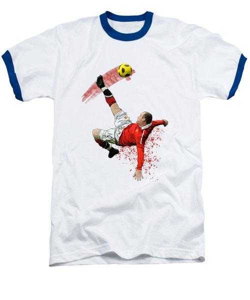 Wayne Rooney Baseball T-Shirt by Armaan Sandhu