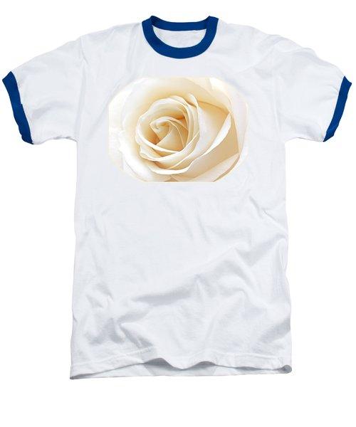 White Rose Heart Baseball T-Shirt by Gill Billington