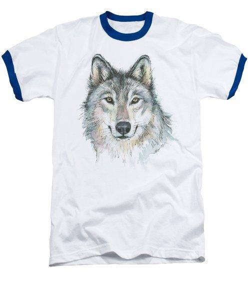 Wolf Baseball T-Shirt by Olga Shvartsur