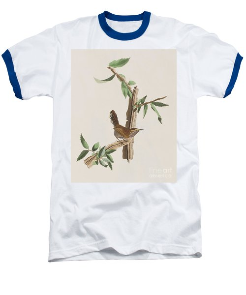 Wren Baseball T-Shirt by John James Audubon