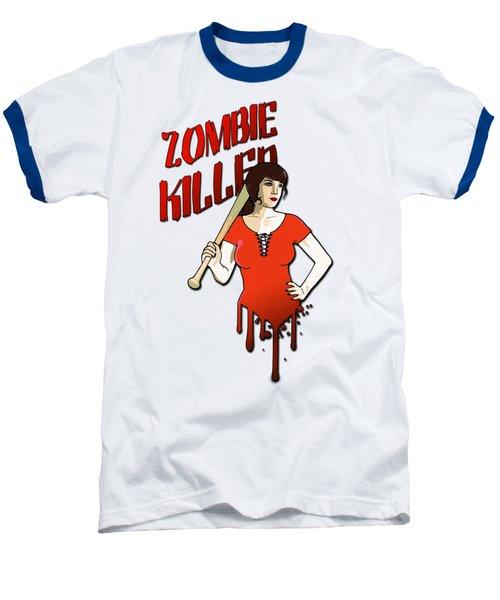 Zombie Killer Baseball T-Shirt by Nicklas Gustafsson