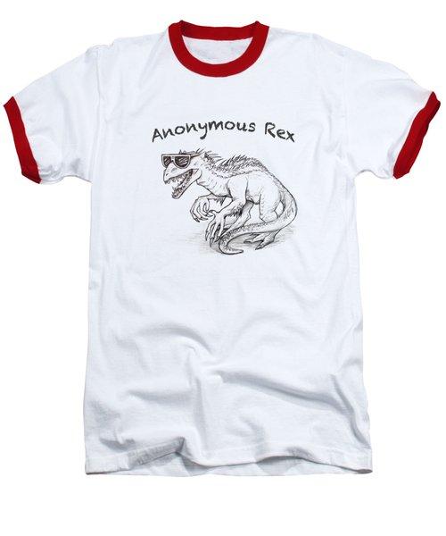 Anonymous Rex T-shirt Baseball T-Shirt by Aaron Spong