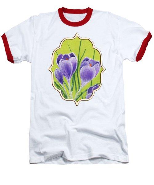 Crocus Baseball T-Shirt by Anastasiya Malakhova